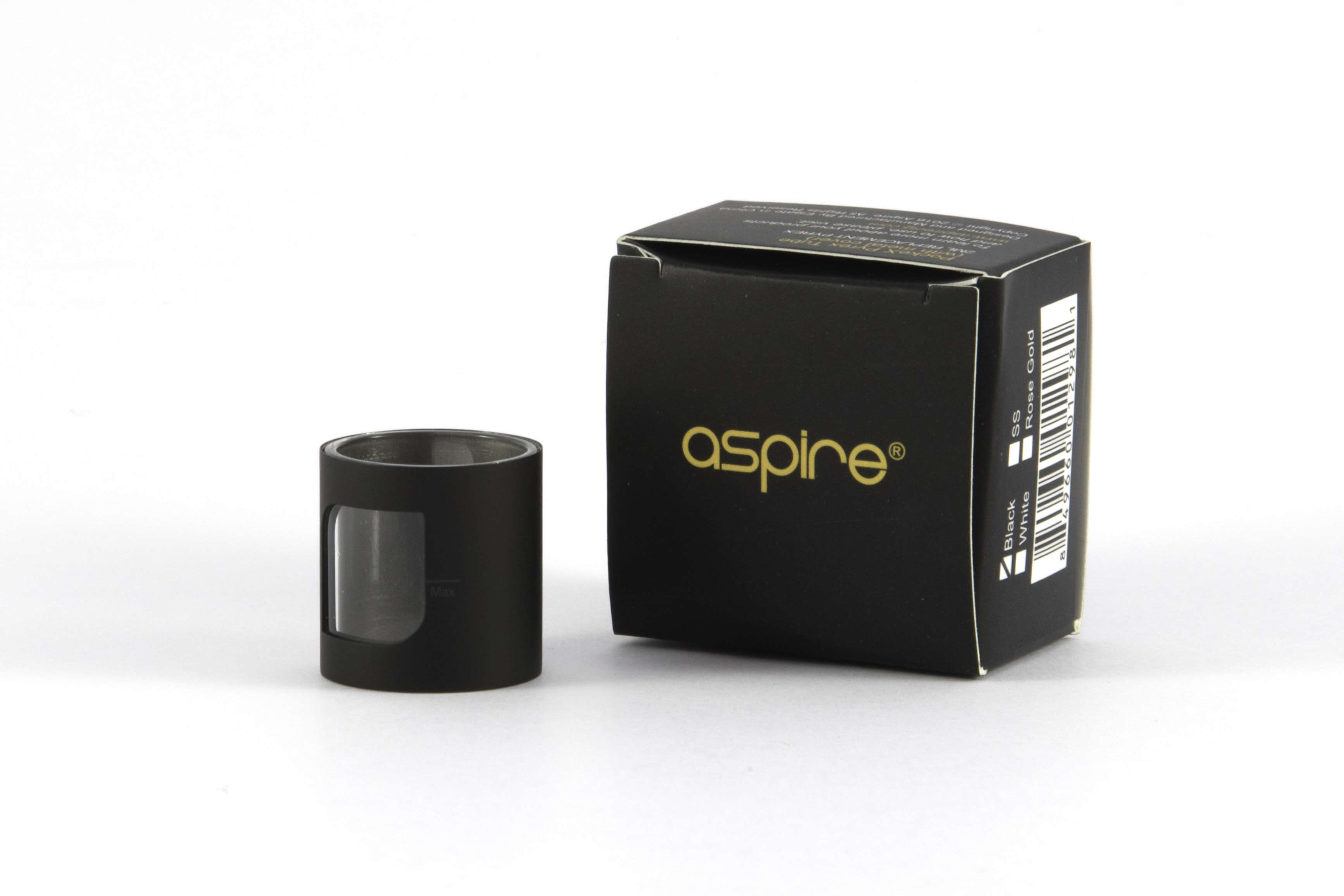Aspire-Pockex-Pyrex-tube-with-mat-black-metal-cover