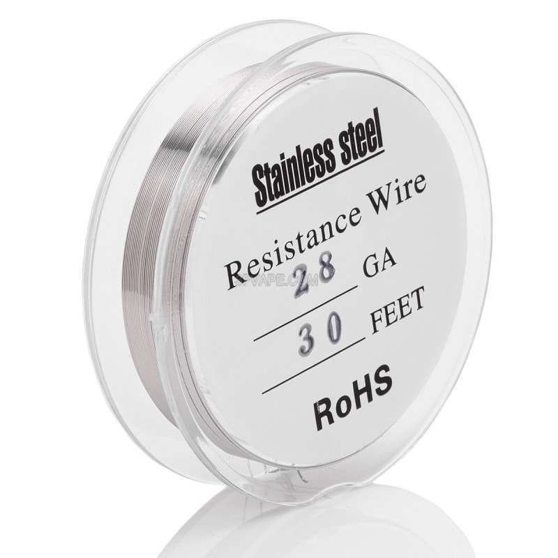 28-awg-resistance-heating-wire-for-rba-rda-rta-silver-316-stainless-steel-03mm-992ohmm-10m-30-feet