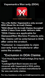 vapemantra warranty doa